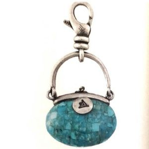 Silpada Sterling Turquoise Trendsetter Purse Charm
